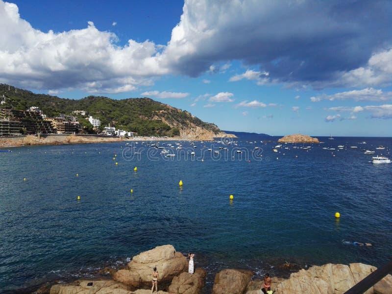 Lugar do europeu da Espanha de Tossa de Mar do mar foto de stock royalty free