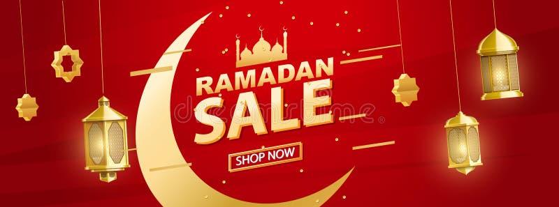 Lugar do fundo do kareem de ramadan do ouro para a bandeira da venda do texto fotografia de stock