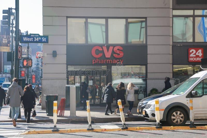 Lugar do retalho da farmácia de CVS CVS é a corrente a maior da farmácia nos E.U. VI fotografia de stock