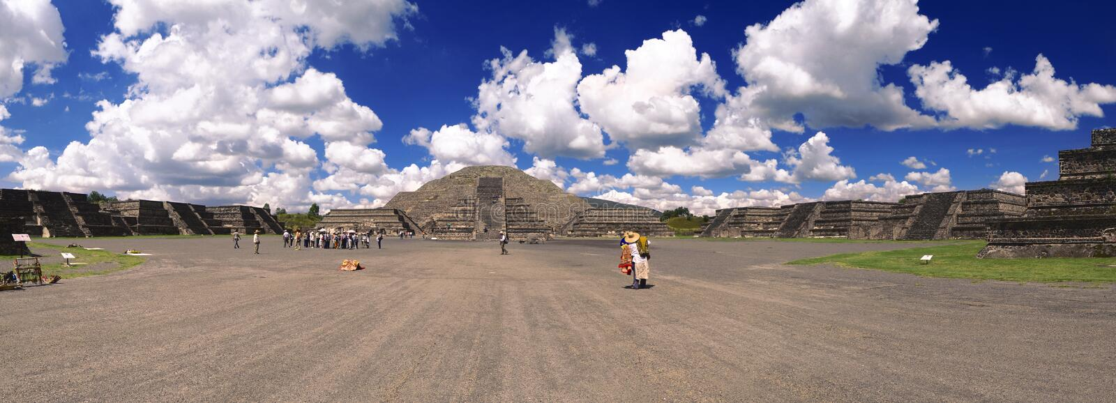 Teotihuacan Mexico Pyramid of the moon royalty free stock images