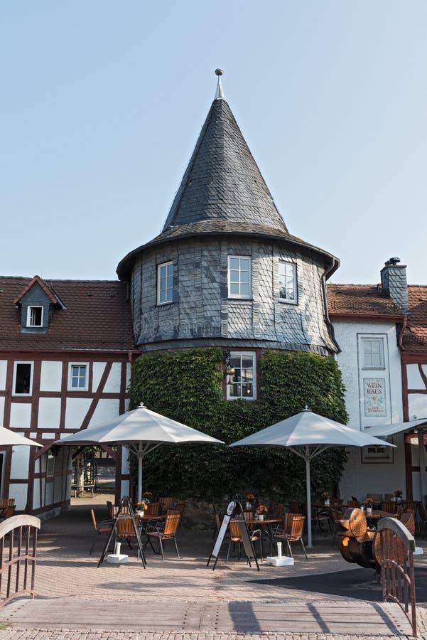 Lugar em Untertor em Hofheim am Taunus fotos de stock