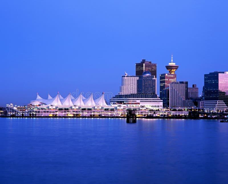 Lugar en la oscuridad, Vancouver de Canadá imagenes de archivo