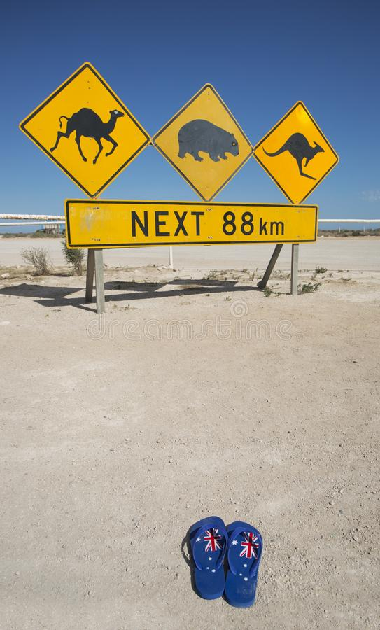 Lugar famoso do deserto australiano foto de stock royalty free