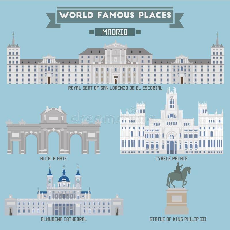 Lugar famoso españa madrid stock de ilustración