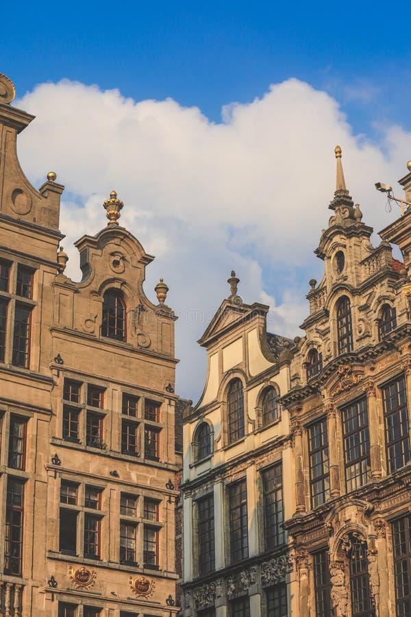 Lugar grandioso, Grote Markt, Bruxelas, Bélgica, Europa fotos de stock royalty free