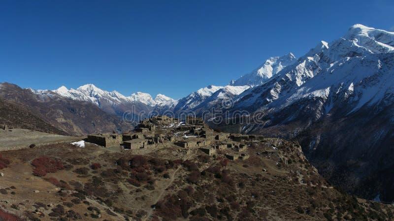 Lugar hermoso en el Himalaya foto de archivo