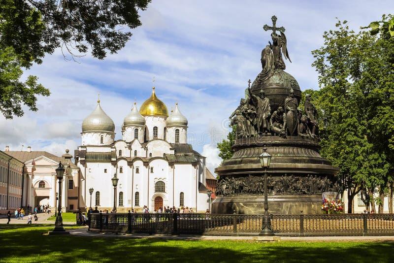 Lugar histórico de Veliky Novgorod, Rússia imagens de stock