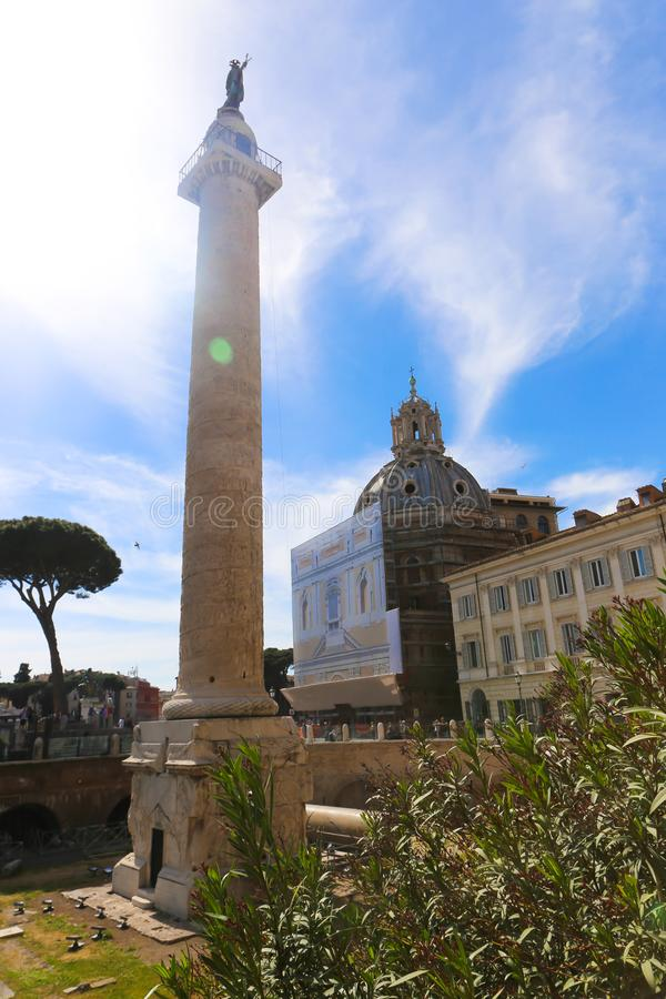 Lugar histórico em Roma imagem de stock royalty free