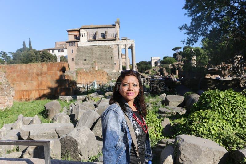 Lugar histórico en Roma foto de archivo libre de regalías