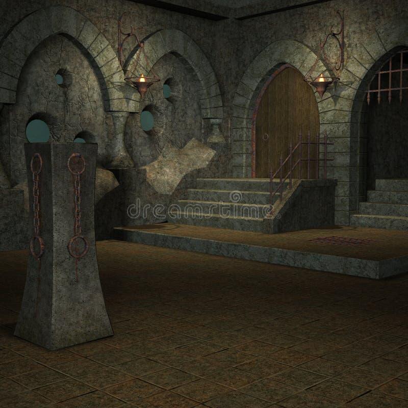 Lugar místico stock de ilustración