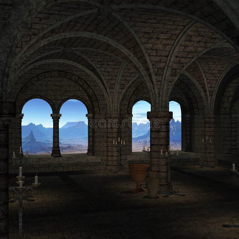 Lugar medieval stock de ilustración