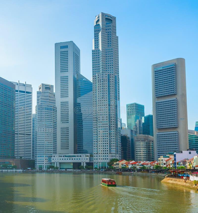 lugar moderno das rifas da skyline de Singapura foto de stock