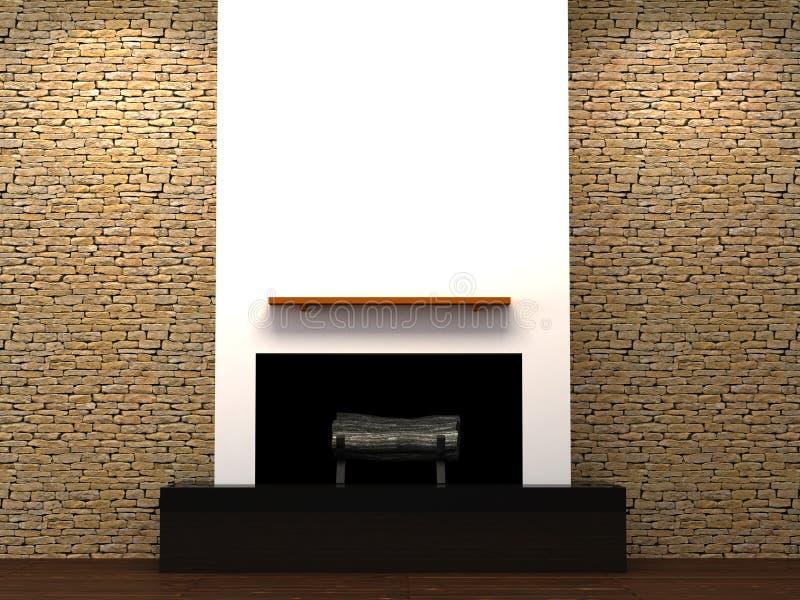 Lugar moderno do incêndio ilustração royalty free