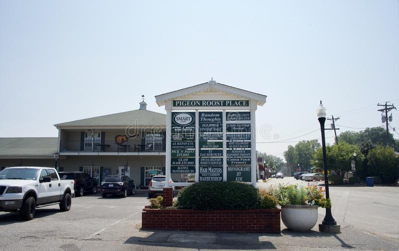 Lugar Olive Branch Mississippi del gallinero de las palomas imagenes de archivo