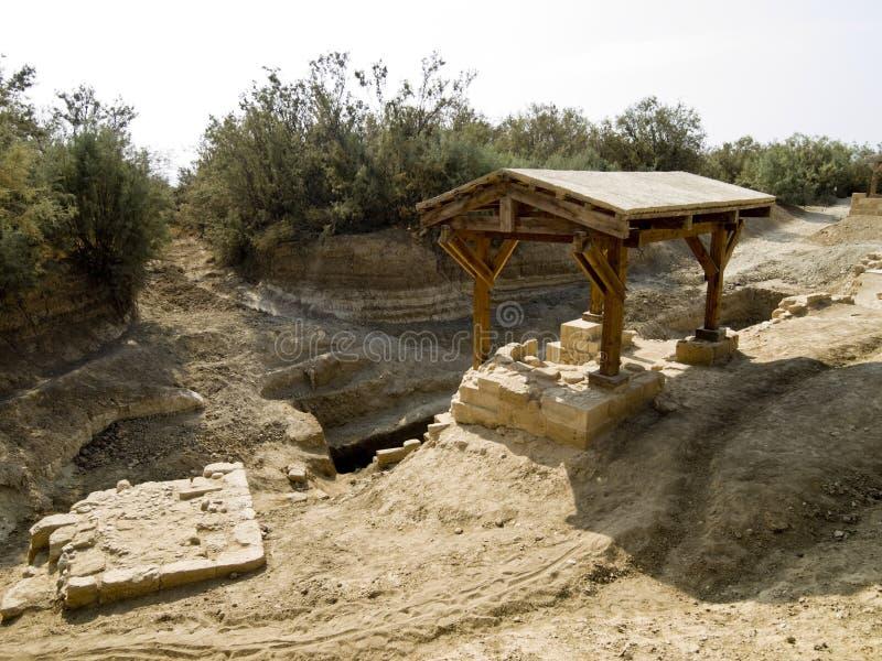 Lugar onde Jesus foi baptizado fotografia de stock