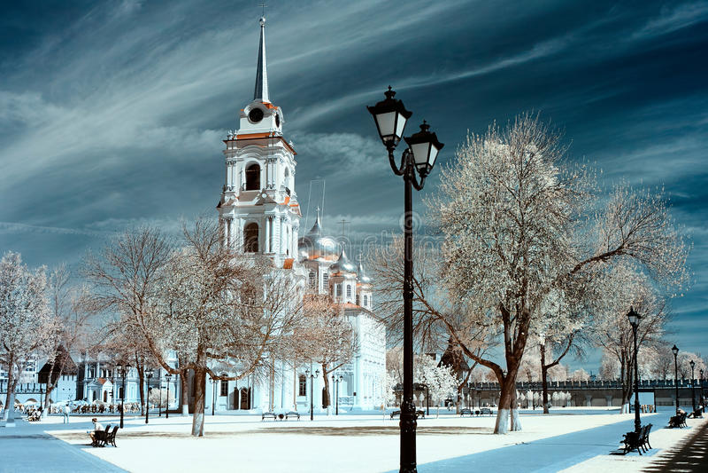 Lugar público, Tula Kremlin imagen de archivo