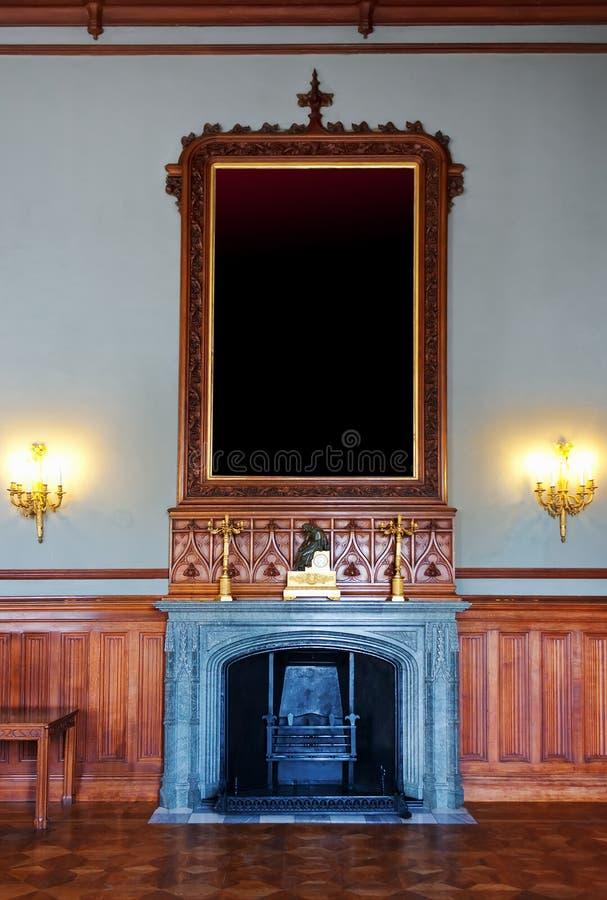 Lugar para o retrato da família no salão foto de stock royalty free