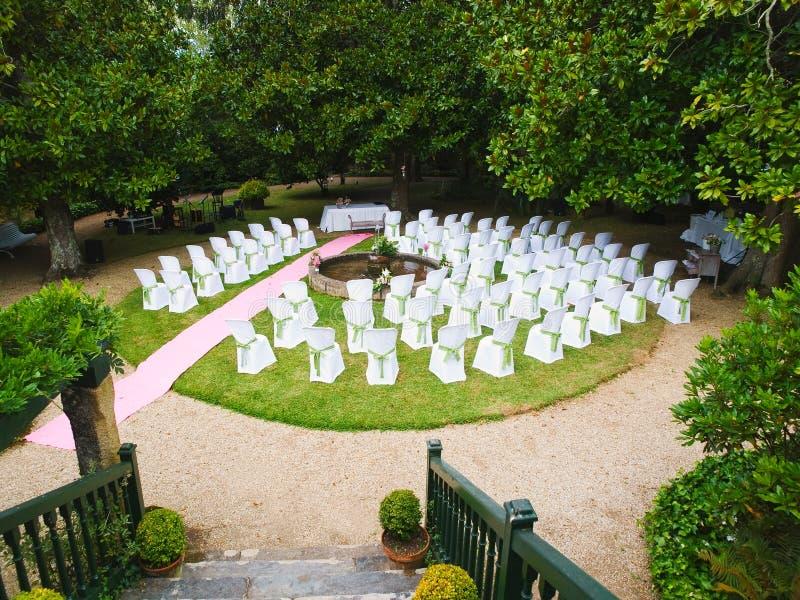 Lugar para una boda imagen de archivo libre de regalías