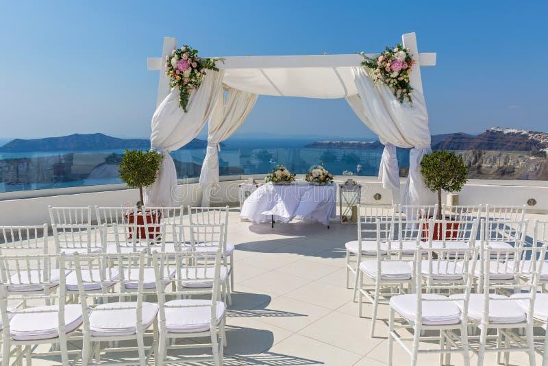 Lugar pintoresco para la boda fotos de archivo libres de regalías