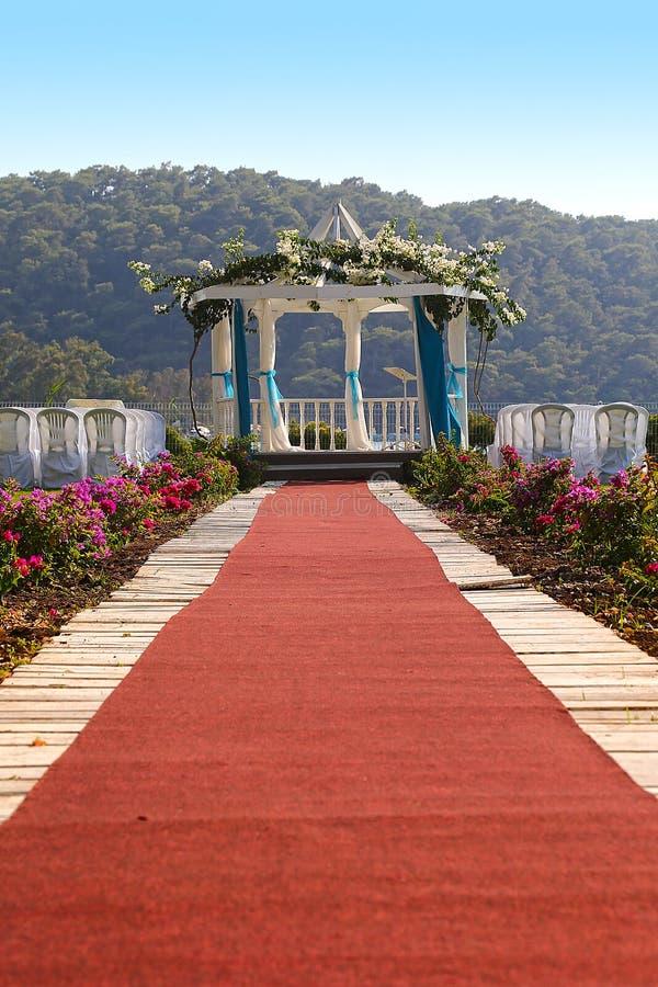 Lugar romántico del día de boda fotos de archivo libres de regalías