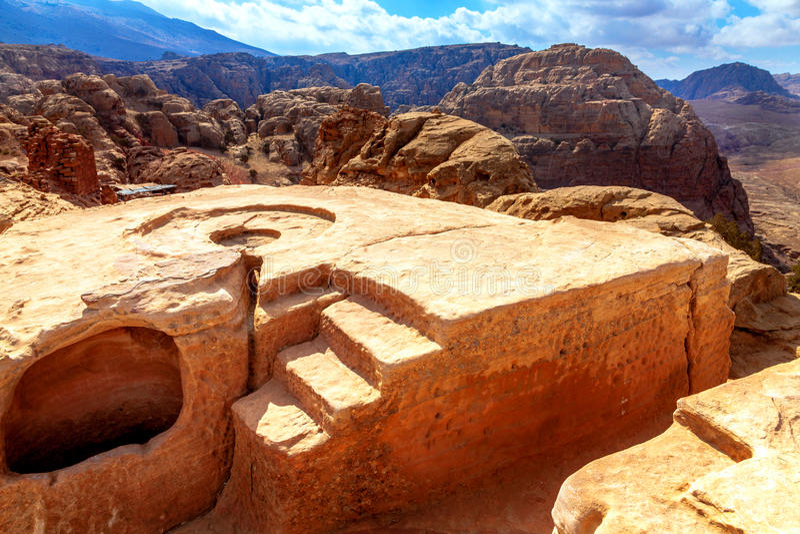 Lugar sagrado en el desierto imagen de archivo