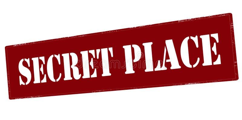 Lugar secreto ilustração royalty free