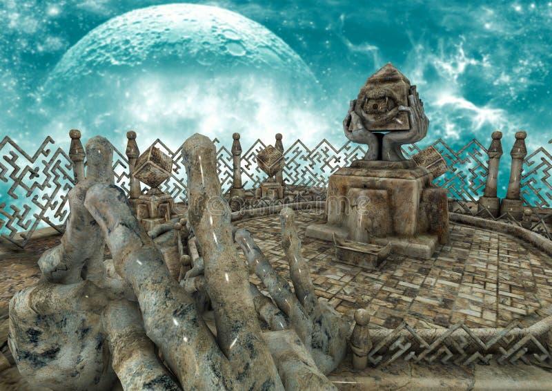 Lugar surrealista colorido 6 ilustración del vector