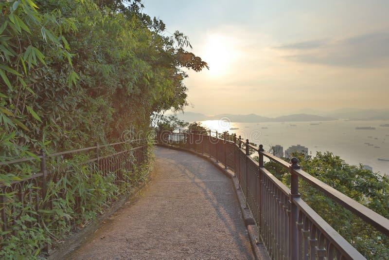 Lugard-Straße bei Victoria Peak in Hong Kong stockfotografie