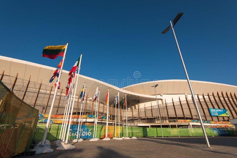 Lugares de deportes modernos en Barra Olympic Park en Rio de Janeiro imagenes de archivo