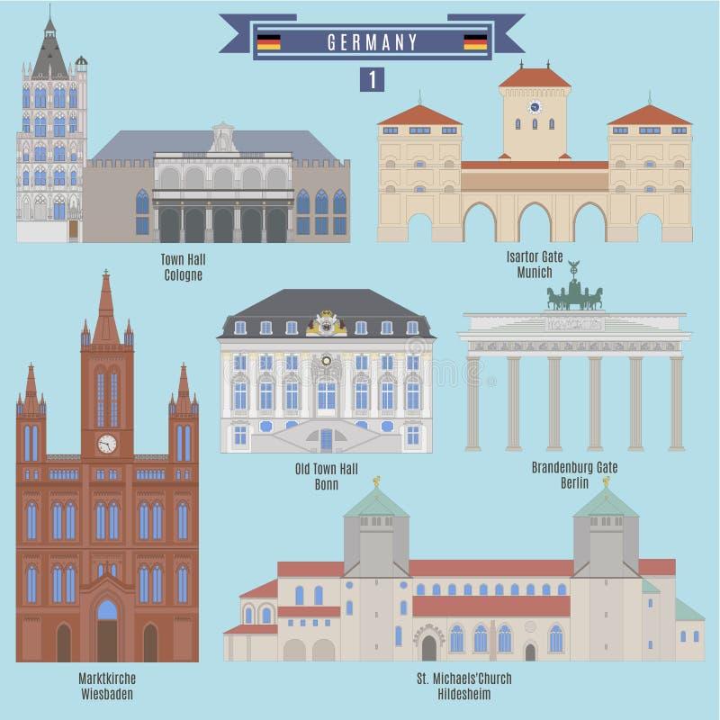 Lugares famosos em Alemanha ilustração do vetor