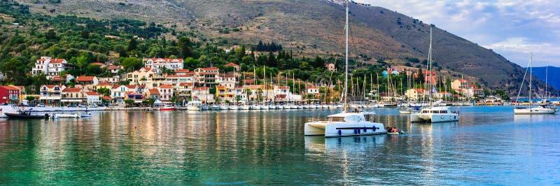 Lugares hermosos de Grecia, isla jónica Kefalonia pintoresco imágenes de archivo libres de regalías