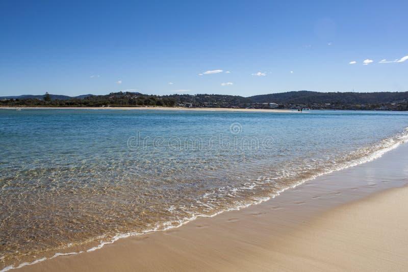 Lugares intactos del agua potable de Australia del nsw de la playa de Pambula fotografía de archivo libre de regalías