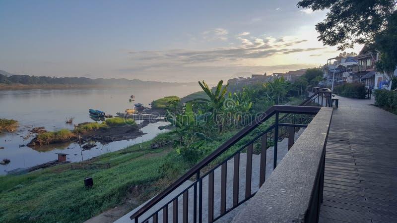 Lugares a lo largo del río Mekong foto de archivo libre de regalías
