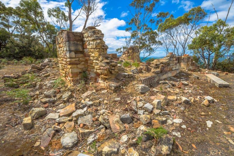 Lugares nacionais da herança: Ruínas das minas de carvão imagens de stock royalty free