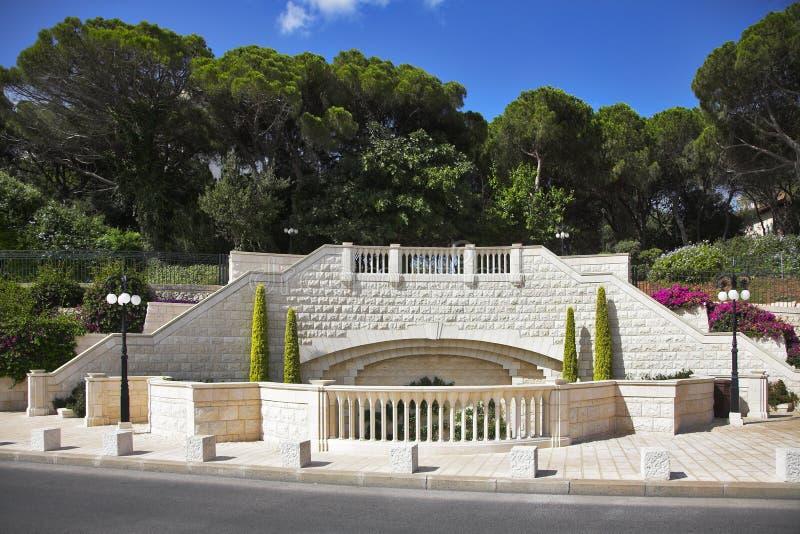 Lugares sagrados de Bahay en Haifa imagenes de archivo