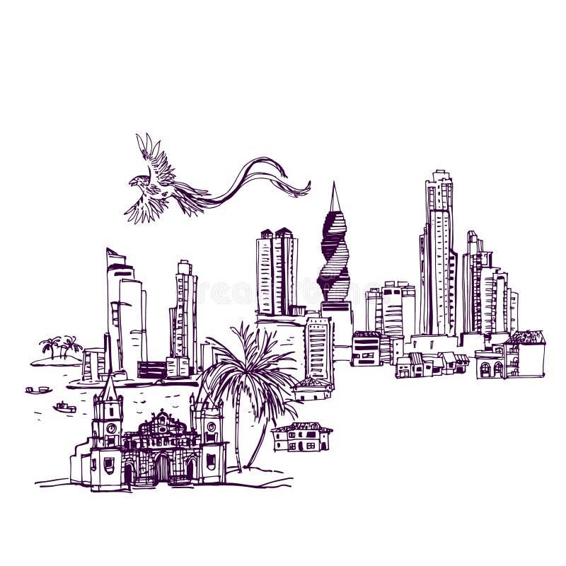 Lugares y arquitectura en todo el mundo ilustración del vector