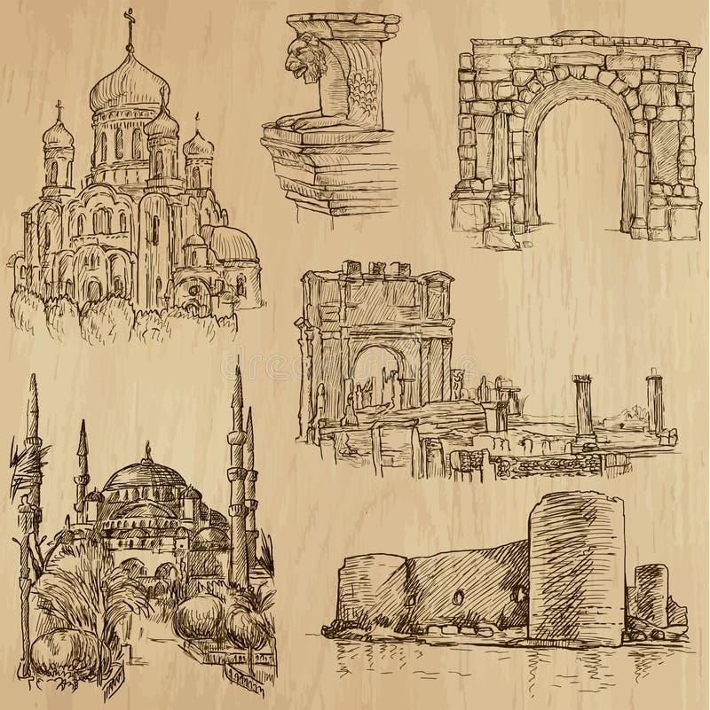 Lugares y no. famosos 21 de los edificios libre illustration