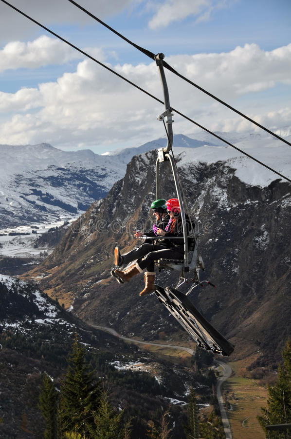 Download Luge Chairlift, Queenstown, New Zealand Editorial Stock Image - Image of sightseeing, chairlift: 20521729