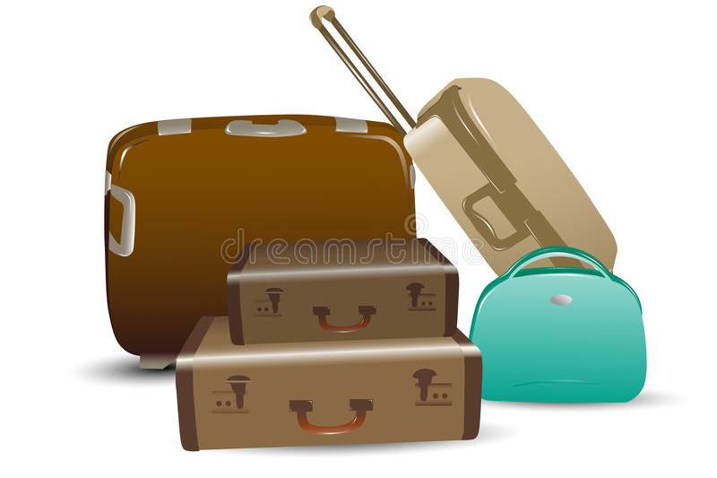 Download Luggage stock vector. Image of object, concept, business - 17558083