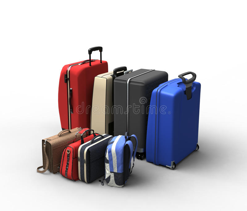 Download Luggage bags stock illustration. Image of shop, group - 24596366