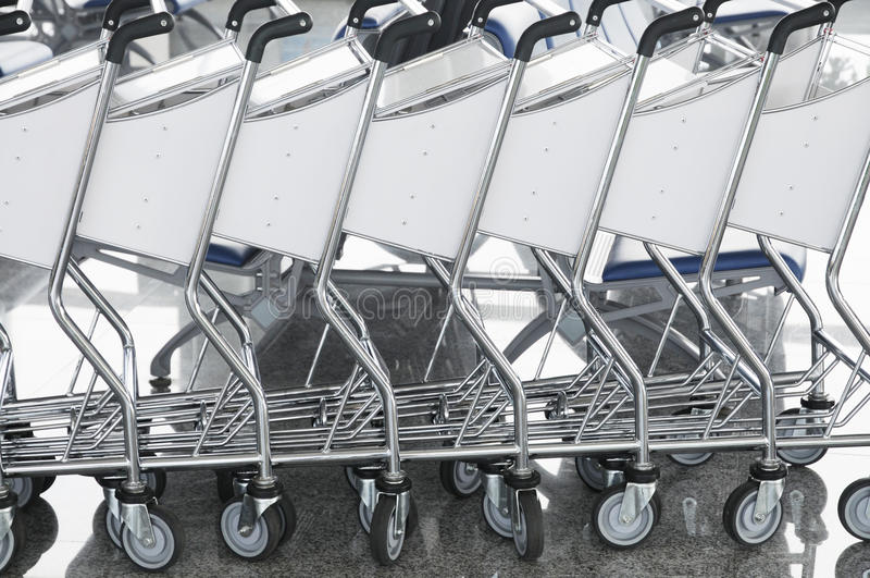 Download Luggage cart stock image. Image of cart, waiting, static - 15090749