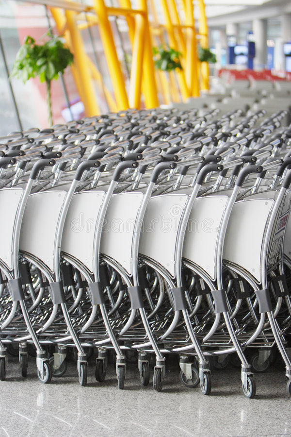 Download Luggage Cart stock photo. Image of cart, travel, indoor - 7534950