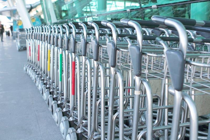 Luggage carts royalty free stock photos