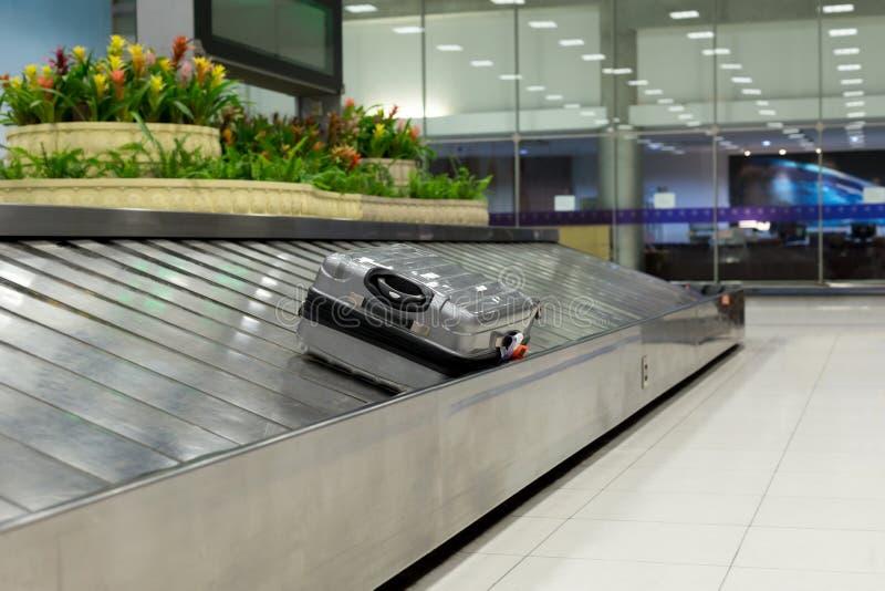 Luggage claim on conveyor belt royalty free stock photo