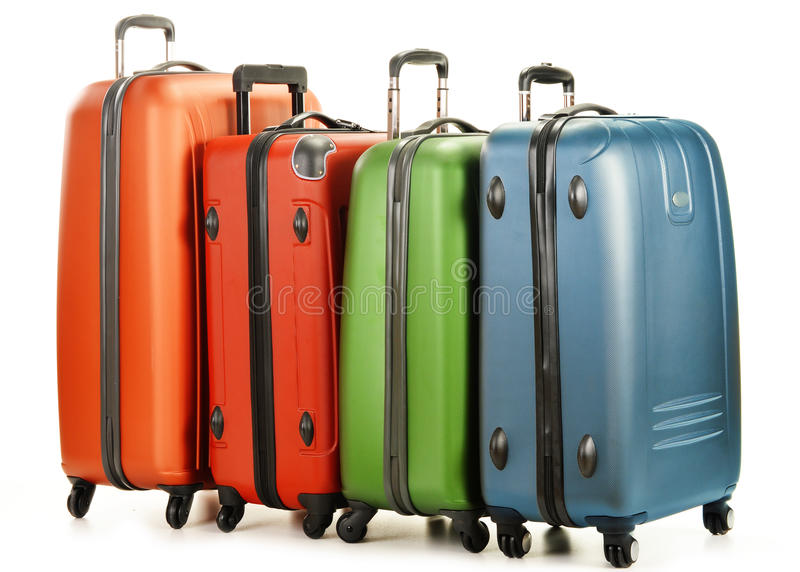 Download Luggage Consisting Of Large Suitcases On White Stock Photo - Image: 30584598