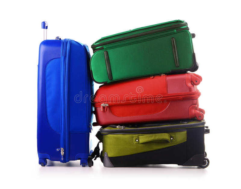 Download Luggage Consisting Of Suitcases Isolated On White Stock Image - Image: 20524589