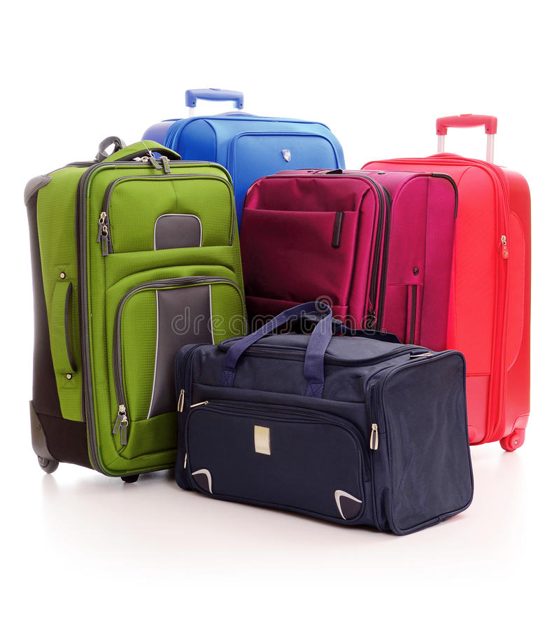 Download Luggage Consisting Of Suitcases Isolated On White Stock Photo - Image: 20524660