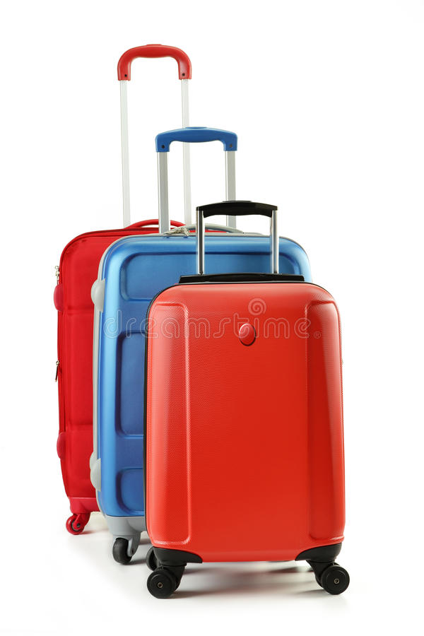 Download Luggage Consisting Of Suitcases Isolated On White Stock Photos - Image: 21574563
