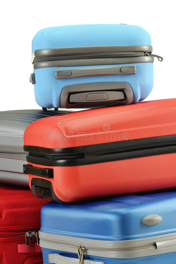 Luggage Consisting Of Suitcases Isolated On White Royalty Free Stock Image