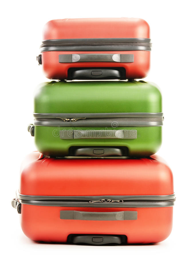Download Luggage Consisting Of Three Suitcases On White Stock Image - Image: 30040411